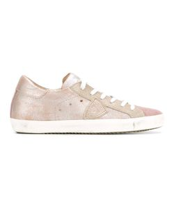 Philippe Model | Classic Lace-Up Sneakers 36 Leather/Cotton/Rubber