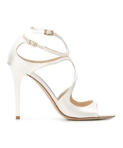 Jimmy Choo | Lang 100 Sandals 37 Silk/Leather