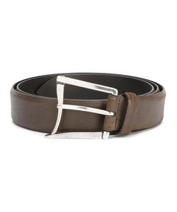 D'Amico | Curved Buckle Belt 95 Calf Leather