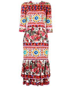 Dolce & Gabbana | Mambo Print Peplum Dress 42