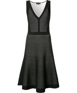 Narciso Rodriguez | Pleated Trim Flared Dress 42 Viscose/Polyester