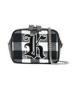 Christopher Kane | Gingham Box Crossbody Bag Leather/Cotton/Metal