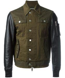 Dsquared2 | Shirt Effect Bomber Jacket 50 Cotton/Leather