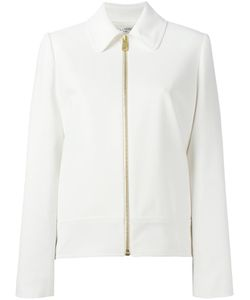 Lanvin | Zipped Pointed Collar Jacket 38 Silk