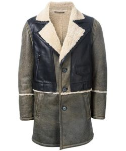 Drome | Panelled Shearling Coat Large Leather