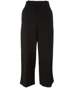 Vince | Wide-Legged Cropped Trousers 8 Cotton/Linen/Flax/Lyocell