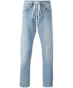 OFF-WHITE | Diagonal Spray Slim-Fit Jeans 33 Cotton/Polyester