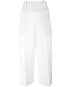 Vince | Wide-Legged Cropped Trousers 4 Cotton/Linen/Flax/Lyocell