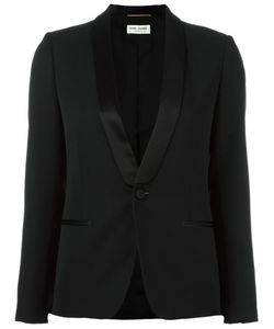 Saint Laurent | Iconic Smoking Jacket 40 Virgin Wool/Viscose/Silk/Cotton