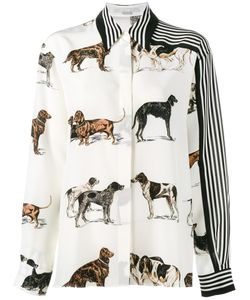 Stella Mccartney | Dog And Stripe Print Shirt 38