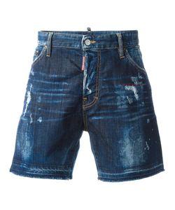 Dsquared2 | Bermuda Bleached Distressed Shorts 50 Cotton/Spandex/Elastane