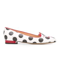 Charlotte Olympia | Kitty Slippers 35.5 Calf Leather/Leather