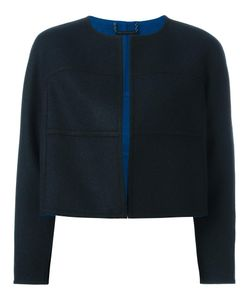 Diane Von Furstenberg   Stylized Seam Cropped Jacket Medium Wool Diane Von