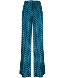 Diane Von Furstenberg | Stylised Print Trousers 4 Silk