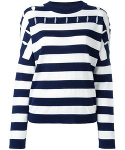 Jil Sander | Striped Round Neck Jumper 38 Silk/Cotton/Virgin Wool