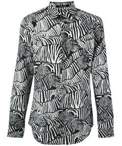 Roberto Cavalli | Zebra Print Shirt 40 Cotton/Silk