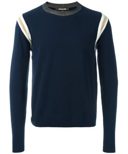 Roberto Cavalli | Ribbed Trim Sweatshirt Large Cotton