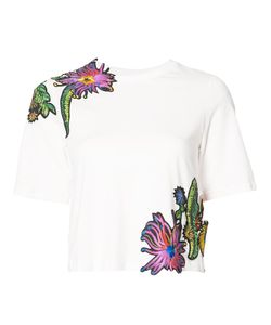 3.1 Phillip Lim | Embroidered T-Shirt Small Cotton