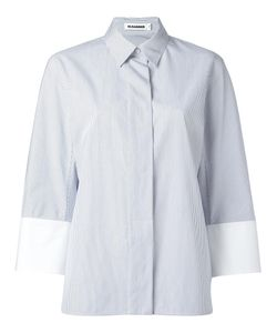 Jil Sander | Poplin Stripe Shirt 34 Cotton