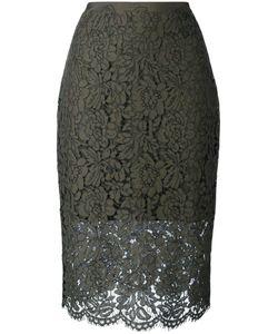 Diane Von Furstenberg | Glimmer Pencil Skirt 6 Polyester/Spandex/Elastane/Cotton/Viscose