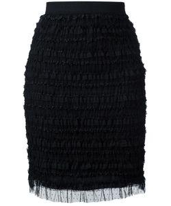 Givenchy | Ruffle Embellished Pencil Skirt 38 Polyamide/Polyester/Spandex/Elastane