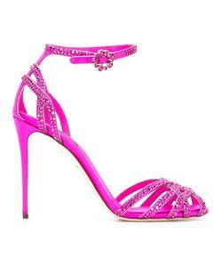 Dolce & Gabbana | Crystal Embellished Stiletto Sandals 36.5