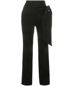 Givenchy | Tie-Waist Crepe Trousers 40 Viscose/Spandex/Elastane/Silk/Silk
