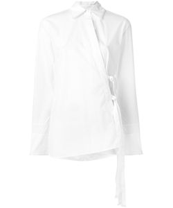 Helmut Lang | Overlap Tie Shirt Small Silk/Cotton