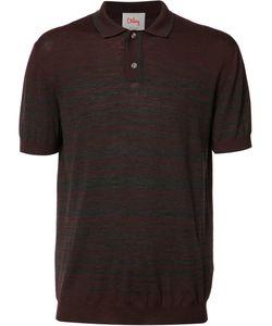 ORLEY | Striped Polo Shirt Xl Merino