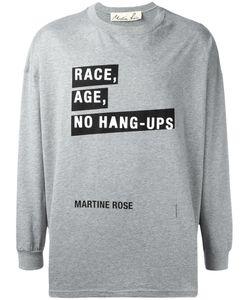 MARTINE ROSE | Race Age No Hang-Ups T-Shirt Adult Unisex Medium