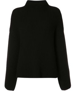 ROSETTA GETTY | Cropped Back Ribbed Blouse 1 Cashmere/Wool