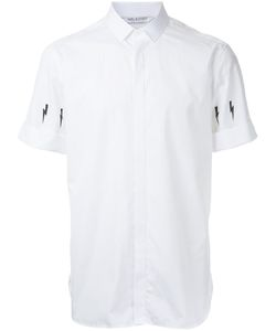 Neil Barrett | Lightning Bolt Print Shirt 43 Cotton