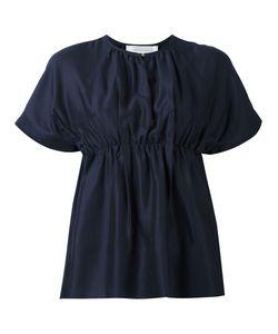 Victoria, Victoria Beckham | Victoria Victoria Beckham Gathered Waist T-Shirt 8 Cotton/Polyamide/Spandex/Elastane/Zamak