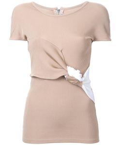 Christopher Esber   Eclipse Knot T-Shirt 8 Rayon/Nylon/Spandex/Elastane