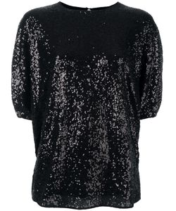 Victoria, Victoria Beckham | Victoria Victoria Beckham Sequin Embellished Blouse 10 Nylon/Silk/Polyester/Cotton