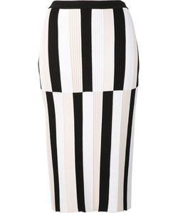 Derek Lam | Striped Pencil Skirt Xs Polyester/Viscose