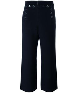 Joseph | Button Detail Palazzo Pants 36 Wool/Cashmere/Viscose