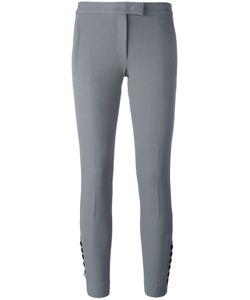 Joseph | Buttoned Cropped Trousers 40 Viscose/Cotton/Spandex/Elastane