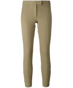 Joseph | Buttoned Cropped Trousers 40 Viscose/Cotton/Spandex/Elastane