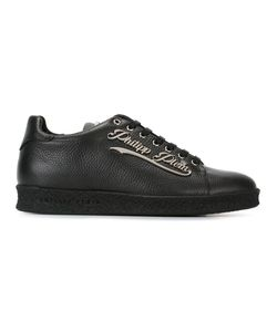 Philipp Plein | Logo Plaque Sneakers 40 Calf Leather/Leather/Rubber