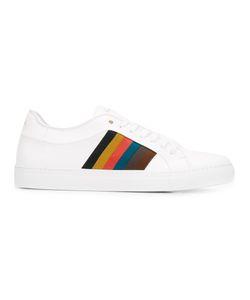 Paul Smith | Striped Laterals Sneakers 9 Calf Leather/Leather/Rubber