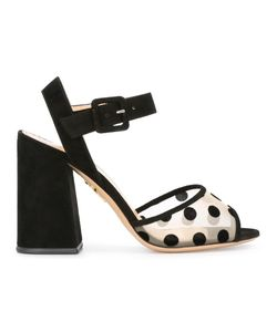 Charlotte Olympia | Emma Sandals 37 Leather/Velvet