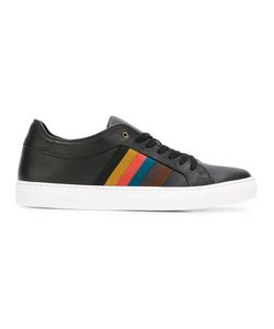 Paul Smith | Striped Laterals Sneakers 7 Calf Leather/Leather/Rubber
