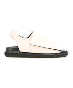 Marni | Velcro Sandals 35 Leather/Rubber