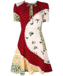 COACH | Printed Panel Dress 2 Silk/Cupro