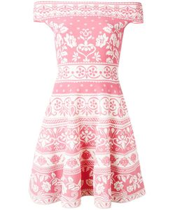 Alexander McQueen | Jacquard Mini Dress Small Viscose/Polyester/Polyamide/Spandex/Elastane