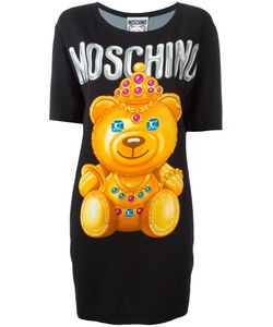 Moschino | Bear Print T-Shirt Dress Size 40 Rayon/Other Fibers