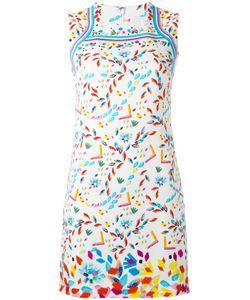 Peter Pilotto   Printed Stamp Dress 6 Viscose/Spandex/Elastane/Polyester/Acetate
