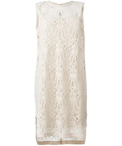 DKNY | Sleeveless Lace Dress Large Polyester/Viscose/Nylon