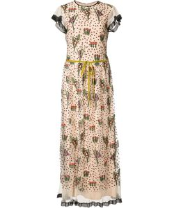 Red Valentino | Embroidery Long Dress 40 Polyester